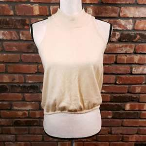 Gran Sasso Cashmere Blend Sleeveless Crop Sweater